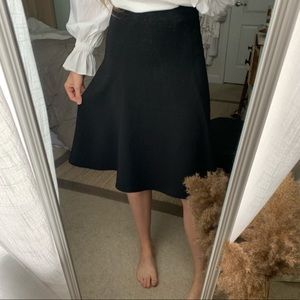 Express Black A-Line Skirt
